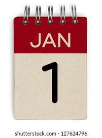 1 january calendar