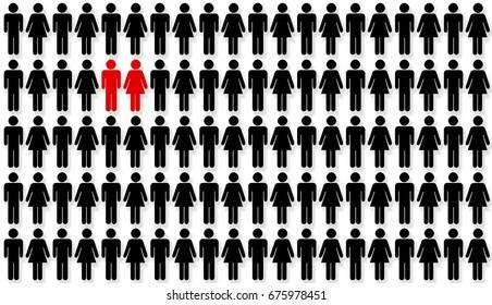 1 percent of couples. Statistics concept.
