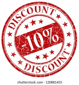 10% discount stamp