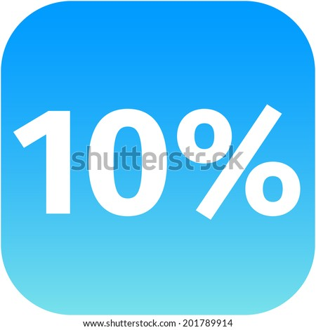 10 percent blue white icon phone stock illustration 201789914