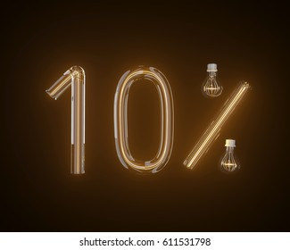 10 percent Discount , special offer 10% discount tag, sale up to 10 percent, sale symbol, special offer label, sticker, tag, banner, advertisement, badge, emblem, Web Icon.3d illustration