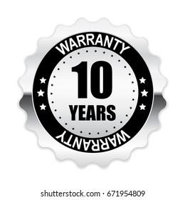 10 years warranty silver label.