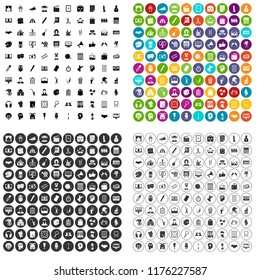 100 artistic guidance icons set in 4 variant for any web design isolated on white
