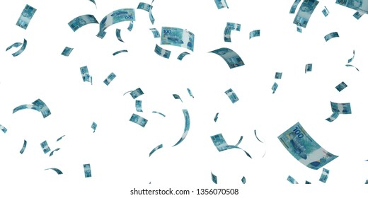 100 Brazilian real 2010 - 3d render Isolated on white background