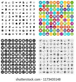 100 data exchange icons set in 4 variant for any web design isolated on white