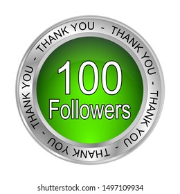 100 Followers Thank you - 3D illustration