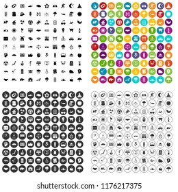 100 harmony icons set in 4 variant for any web design isolated on white