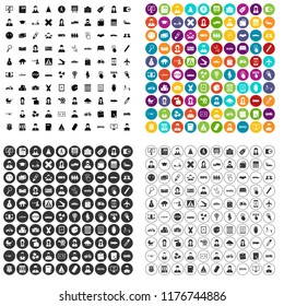 100 initiation icons set in 4 variant for any web design isolated on white