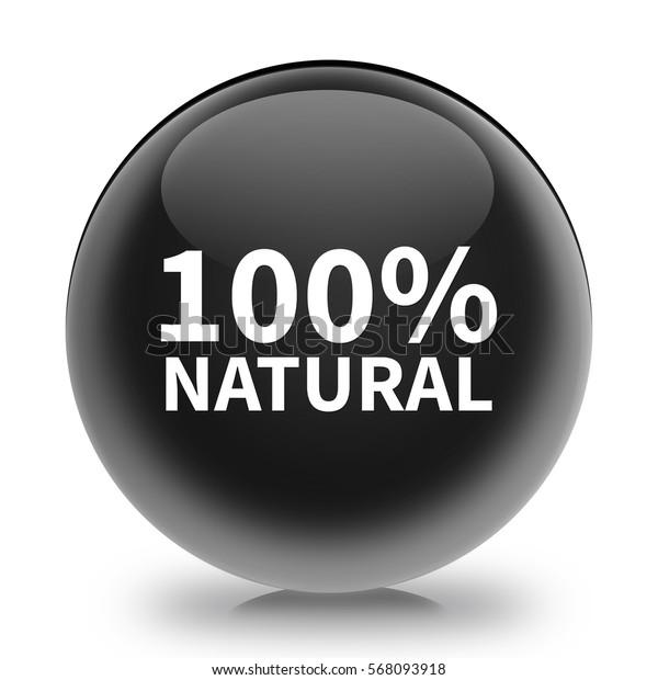 100% natural icon. Internet button.3d illustration.