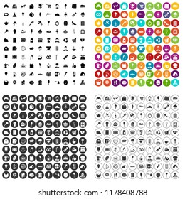 100 patisserie icons set in 4 variant for any web design isolated on white