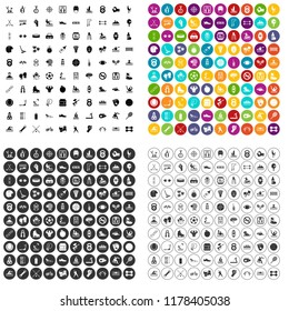 100 physical training icons set in 4 variant for any web design isolated on white