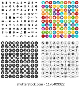 100 pointers icons set in 4 variant for any web design isolated on white