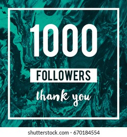 1000 Followers Thank You Message to followers