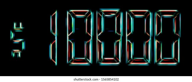10000$ neon futuristic abstract background