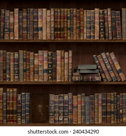 11of15 Old books seamless texture (vertically and horizontally). Tiled Bookshelf Background. Also tiled with other 15 textures from same pack in my gallery.