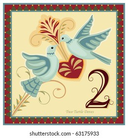 The 12 Days of Christmas - 2-nd day - Two turtle doves.