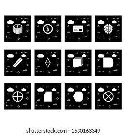 12 decent icon sheet of universal