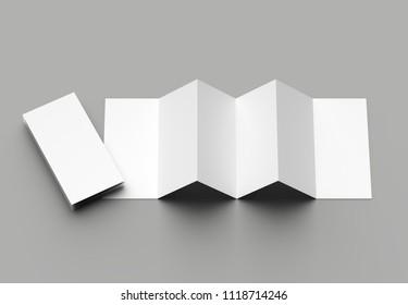 12 page leaflet 6 panel accordion stock illustration 1118714240