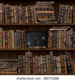 12of15 Old books seamless texture (vertically and horizontally). Tiled Bookshelf Background. Also tiled with other 15 textures from same pack in my gallery. Open safe.