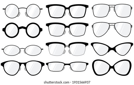 12-piece set of glasses for different purposes
