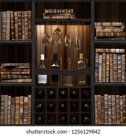 15 of 30 Black wood bookshelf. Old books seamless texture (vertically and horizontally). Tiled Bookshelf Background. Also tiled with other textures from same set in my gallery. Pack2.