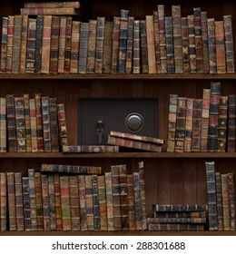 15of15 Old books seamless texture (vertically and horizontally). Tiled Bookshelf Background. Also tiled with other 15 textures from same pack in my gallery. Closed safe.