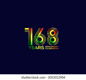 168 Year Anniversary Day background Concept