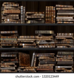 17 of 30 Black wood bookshelf. Old books seamless texture (vertically and horizontally). Tiled Bookshelf Background. Also tiled with other textures from same set in my gallery. Pack2.