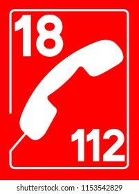 18 / 112 icon of firemen with red background