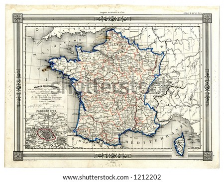 Map Of France In 1789.1846 Antique Map France 1789 Stock Illustration 1212202 Shutterstock