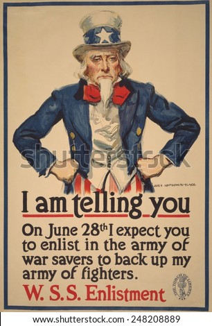 1918 WW1 poster with
