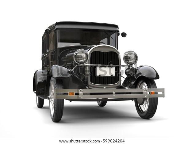 1920s cool black oldtimer car - 3D Illustration