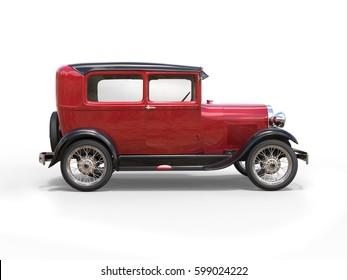 1920s cool oldtimer car - 3D Illustration