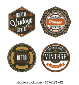 1930s vintage colored label collection of badges