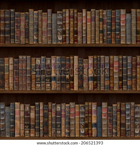 1of15 Old Books Seamless Texture Vertically And Horizontally Bookshelf Background Also Tiled