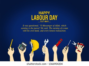 1st MAY. Happy Labour Day