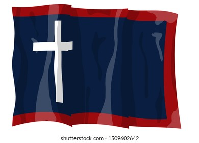 1st Missouri Cavalry. Historic Flag. US Civil War 1860's. Confederate States of America