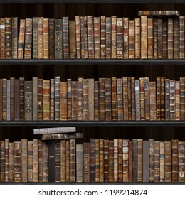 2 Of 30 Black Wood Bookshelf Old Books Seamless Texture Vertically And Horizontally