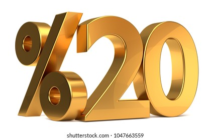 %20 3d rendering golden symbol