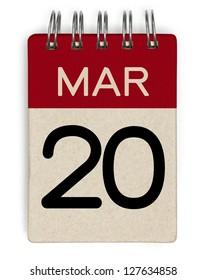 20 march calendar