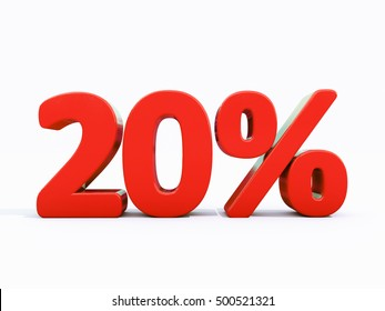 20 Percent Discount 3d Sign on White Background, Special Offer 20% Discount Tag, Sale Up to 20 Percent Off, Sale Symbol, Special Offer Label, Sticker, Tag, Banner, Advertising, Badge, Emblem, Web Icon