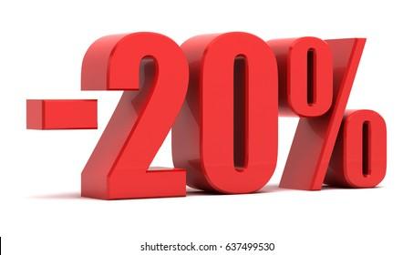 20 percent off.