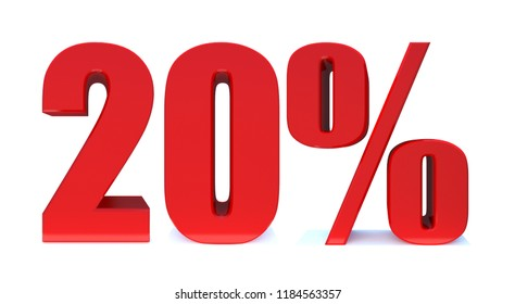 20 Percent off 3d Sign on White Background, Special Offer 20% Discount Tag, Sale Up to 20 Percent Off,big offer, Sale, Special Offer Label, Sticker, Tag, Banner, Advertising, offer Icon