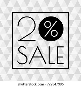 20% sale icon. Discount banner with 20 percent price off.