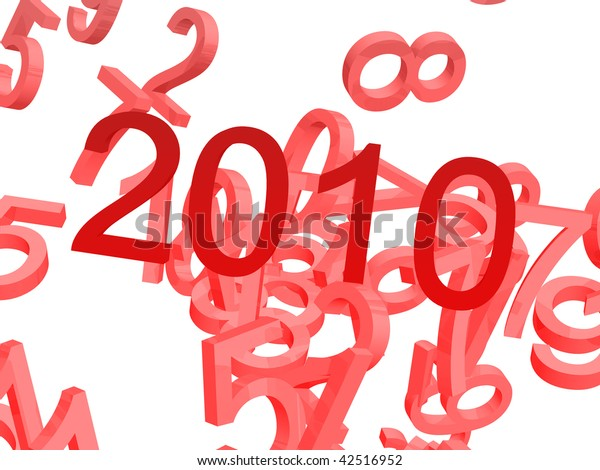 2010 numbers, new year design