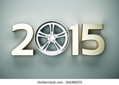 2015 concept with car wheel