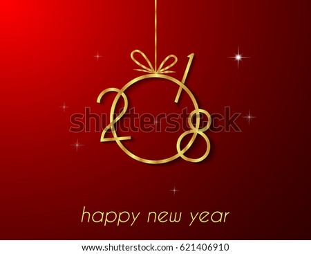 2018 happy new year and christmas for invitation on the dinner background for flayer