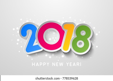 2018 Happy New Year colorful background