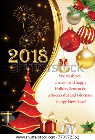 2018 We Wish You Merry Christmas Stock Illustration 770372362 ...