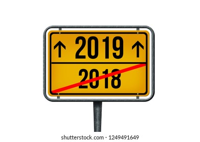 2018-2019 New Year's Eve sign